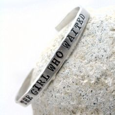 The Girl Who Waited - Hand Stamped Doctor Who Bracelet