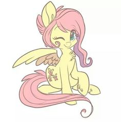 Fluttershy (with the butterflies) - she's my answer in the My Little Pony Cutie Mark quiz. So i'm: soft & gentle, naturally graceful & a big animal lover, good communicator & listener. Thanx. X.
