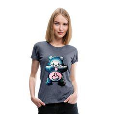 Geschenke Shop | Gummibär Lustig Schwarzer Humor - Frauen Premium T-Shirt Mode Inspiration, Trends, Gummy Bears Funny, Funny Women, Funny T Shirts, Black People Humor, Women's T Shirts, Womens Fashion, Ideas