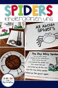 Kindergarten or grade students will enjoy learning all about spiders with this science investigation. Hands on activities designed to include reading, writing, science, and math are the perfect fit for Halloween or anytime of the year. Kindergarten Units, Kindergarten Lesson Plans, Kindergarten Graduation, Halloween Science, Halloween Ideas, Hands On Activities, Summer Activities, Reading Workshop, Science Lessons