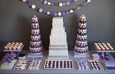 This stunning mauve and white Macaroon Delight Party is some delightful Parisian Inspiration