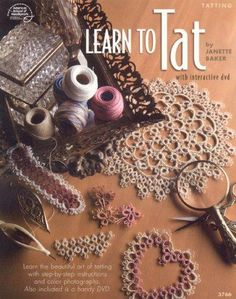 Learn the beautiful art of tatting with the step-by-step instructions and interactive DVD presented in this book from American School of Needlework. 48 pages