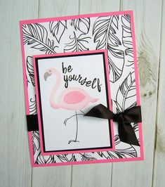 Be Yourself, #amusestudio, flamingo stamps