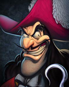 Captain Hook (Drawing by NicChapuis @deviantART) #PeterPan