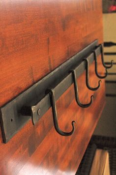 Hand Forged 5 Coat or Pot Rack 26 Inch by ArtisansoftheAnvil, $78.00 - http://www.homedecoz.com/home-decor/hand-forged-5-coat-or-pot-rack-26-inch-by-artisansoftheanvil-78-00/