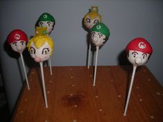 Baby Mario Pops for a new Mommy! Crafted by: ~Cake Pops By AJ~