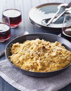 Pine Nut Polenta with Pecorino Romano Recipe--good; cam't save URL to NYT Mini Dessert Recipes, Gourmet Recipes, Vegetarian Recipes, Healthy Recipes, Pasta Recipes, Pine Nut Recipes, Mushroom Varieties, Dinner Side Dishes, Main Dishes