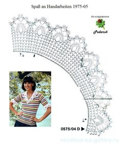 This Pin Was Discovered By All - Diy Crafts - Qoster Crochet Collar Pattern, Col Crochet, Crochet Necklace Pattern, Crochet Lace Collar, Crochet Lace Edging, Crochet Girls, Crochet Borders, Crochet Woman, Crochet Chart