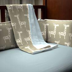 Giraffe Safari Crib Blanket | Carousel Designs