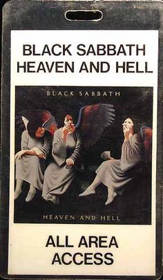 Black Sabbath - Heaven & Hell tour pass 1980-81