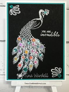 Shimmer & Shine Royal Peacock ⋆ Tina Wardell~Stampin' Up! Perfect Peacock, Window Cards, Interactive Cards, Stampin Up Catalog, Bird Cards, Sympathy Cards, Stamping Up, Greeting Cards Handmade, Scrapbook Cards