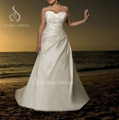 Mermaid Satin White/Ivory Wedding Dress Bridal Gown Custom Plus Size 18-20-22+++