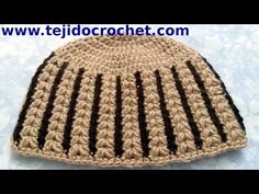Gorro Abanico mujer en tejido crochet tutorial paso a paso. - YouTube