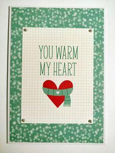 You warm my heart SSS kit christmas winter card Winter Cards, My Heart, Playing Cards, Warm, Christmas, Xmas, Playing Card Games, Navidad, Noel