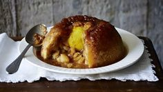 Sussex pond pudding with apples  by Mary Berry  ( and that whole lemon baked inside)