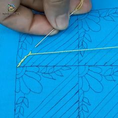 hand embroidery nakshi katha design – Famous Last Words French Knot Embroidery, Hand Embroidery Videos, Embroidery Stitches Tutorial, Simple Embroidery, Learn Embroidery, Hand Embroidery Designs, Embroidery Techniques, Ribbon Embroidery, Beaded Embroidery