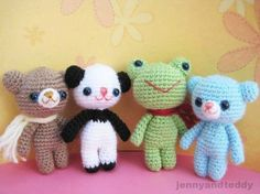 brownie bear and his friends free amigurumi pattern