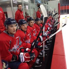 #Caps bench is ready for a scrimmage.