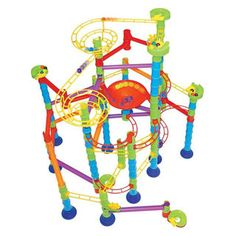 $64.95 - Keep it simple, or make a super-cool marble-run with this complete set! This huge 220-piece marble run includes tons of great stuff to get you building away. Ok, here goes . . .• 2 exclusive double entrance funnels.• 3 exclusive spirals.• High-quality, real marbles.• Sturdy base pieces for steady construction.• And extra long bridges for building larger structures. • Lots of action and excitement. Just roll with it!Lost your marbles? We?ve found ?em...and more here!