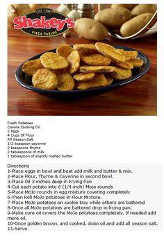 Shakey's MoJo Potatoes Copycat Recipe