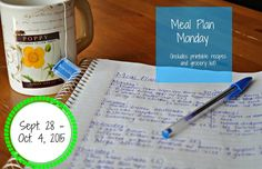 Darcie's Dishes: Meal Plan Monday: 9/28-10/4/15