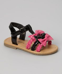 Loving this Black Triple Bow Alexa Sandal on #zulily! #zulilyfinds