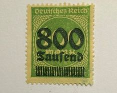 Rare 1921 German Realm 30 Reichspfenni New Superb Grade Rare Stamps, Vintage Stamps, Valuable Postage Stamps, Stamp Values, German Stamps, Coins Worth Money, Stamp Catalogue, Coin Worth, Green Opal