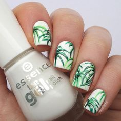 palm leaf nail art - Google Search