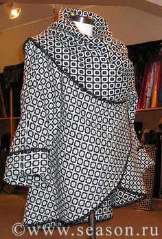 Sehr tolle jacke/poncho   -> kreis aus stoff 140 cm ...      Free Easy Coat Pattern