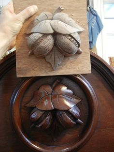Leaf and Fruit Carving - Mary May - Woodcarver