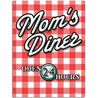 Moms Diner 9 x 12 Tin Sign  http://www.retroplanet.com/PROD/36087