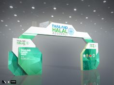 Winning proposal for Thailand Halal Assembly 2014 @ Centara Grand // CTW Exhibition Stall, Exhibition Booth Design, Exhibition Display, Exhibit Design, Entrance Design, Gate Design, Sitemap Design, Exibition Design, Concert Stage Design