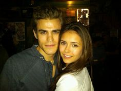 "Paul Wesley and Nina Dobrev | About this Spot: Paul Wesley and Nina Dobrev are co-stars on ""The ..."