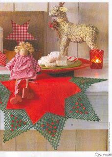 Bico Árvore de Natal em Crochê -  /  Beak Christmas tree Crochet -