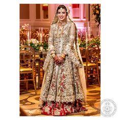 Anem Suhail epitomizes grandeur in our scarlet red lehnga and a heavily embellished shirt. #Elan #TheElanBride #elansworld #Bridal #Couture#Wedding #khadijahshah