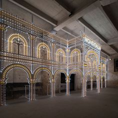 Illuminating Architecture: Swarovski Adds a Sparkle to the 14th Architecture Biennale in Venice | http://www.yatzer.com/Luminaire-swarovski-rem-koolhaas