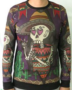 Skeleton Graphic Print Long Sleeve Sweatshirt