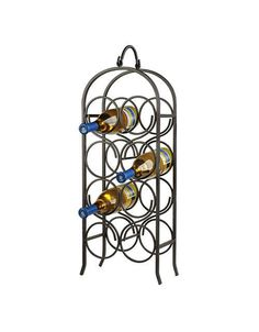 Found it at Wayfair - Arch 8 Bottle Wine Rack- Have seen this without the bottles but big cups for marker/colored pencil storage.wine filling it would be better! Wine Bottle Rack, Bottle Wall, Wine Racks, Glass Holders, Bottle Holders, Tabletop, Wine Cellar Innovations, Hanging Wine Glass Rack, Wine Decor