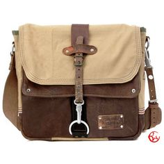 Leather Canvas Messenger Bag // Upcycled and by peace4youBAGS, $299.00