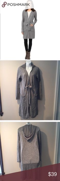 "Simply Vera Wang long cardigan sweater. Medium Excellent condition Simply Vera Wang long cardigan sweater. Size Medium.  Acrylic/nylon/wool. Sheer chiffon hood. Approximately 40"" long. Simply Vera Vera Wang Sweaters Cardigans"