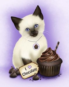 Chocolate Cupcake Kitten