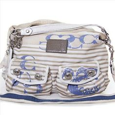 Authentic Coach Multi Pocket Beach Bag/Purse | Property Room