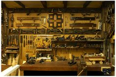 Workshop--Way too neat...(He must never use them...)