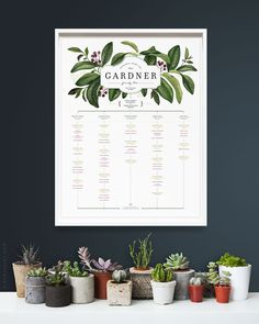 ELDERBERRY Family Tree PORTRAIT orientation, 4 or 5 generations, for large…