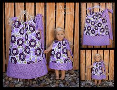 Girl's Boutique Pillowcase Dress with Matching by KinleasKloset
