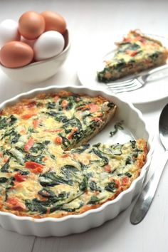 Smoked Salmon & Spinach Hashbrown Quiche