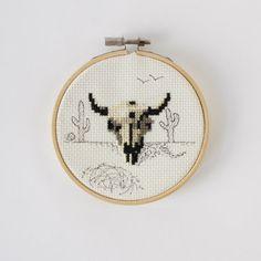 Buffalo Skull Cross Stitch