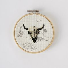 Buffalo Skull Cross Stitch
