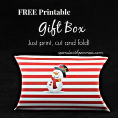 Love it?  Pin it to SAVE it and SHARE it! Follow Spend With Pennies on Pinterest for more great tips, ideas and  recipes! This is an adorable pillow gift box you can print off and cut out!  It's a good size for jewellery, gift cards, candy and so much more! Just simply print the page …