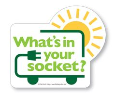 What's in Your Socket? - Electric Car Sticker
